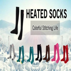 QILOVE 3.7V Outdoor Sports Winter Warm Socks Men Women Rechargeable Electric Battery Heated Socks Cold Weather Thermal Socks ONE SIZE Multicolor