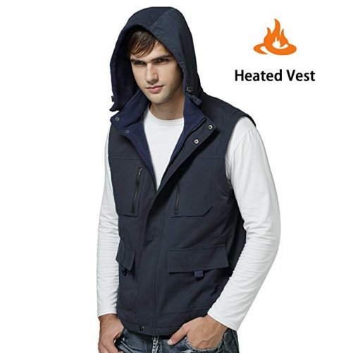 QILOVE Electric Warmer Rechargeable Heated Vest With 3 Heat Settings