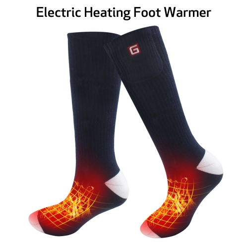 2.4V Battery Heated Socks Knit Cotton Socks Thermal Cozy Thick Unisex Functional Foot Warmers Away from Cold Outdoor Sports ONE SIZE Royal Blue